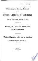 Annual Report of the Boston Chamber of Commerce