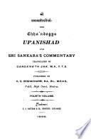 The Upanishads and Sri Sankara s Commentary  Chha ndogya