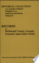 Historical Collections of the Georgia Chapters Daughters of the American Revolution