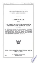 Financial Statement and Audit of the American Legion