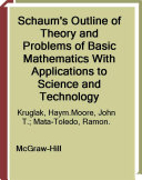 Schaum's Outline of Basic Mathematics with Applications to Science and Technology