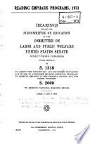 Reading Emphasis Programs  1973