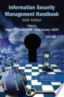 """Information Security Management Handbook, Volume 2"" by Harold F. Tipton, Micki Krause"