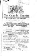 The Canada Gazette