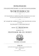 Encyclop  dic English German and German English Dictionary   uniform in plan and arrangement with Sachs Villattes   French German and German French dictionary  giving the pronunciation according to the phonetic system employed in the method of Toussaint Langenscheidt
