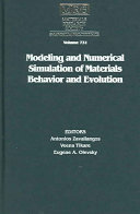 Modeling And Numerical Simulation Of Materials Behavior And Evolution Volume 731 Book PDF