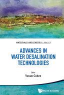 Advances in Water Desalination Technologies Book