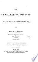 Der St. Galler palimpsest der Diuinae Institutiones des Lactantius