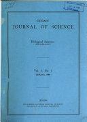 Ceylon Journal of Science