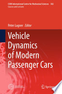 Vehicle Dynamics of Modern Passenger Cars Book