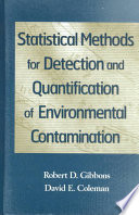 Statistical Methods for Detection and Quantification of Environmental Contamination Book