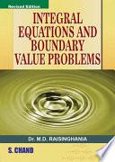 Integratal Equation   Boundary Value Problem
