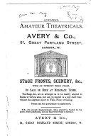 Theatricals and Tableaux Vivants