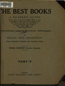 The Best Books  H  Natural science  II   Medicine and surgery  I  Arts and trades  1926