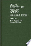Legal Aspects of Health Policy