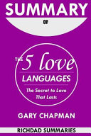 Summary of the 5 Love Languages Book