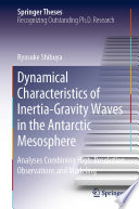 Dynamical Characteristics of Inertia Gravity Waves in the Antarctic Mesosphere
