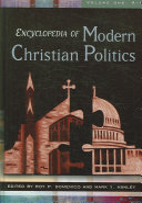 Encyclopedia of Modern Christian Politics: A-K
