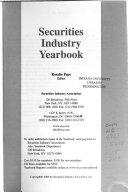 Securities Industry Yearbook