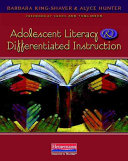 Adolescent Literacy and Differentiated Instruction Book