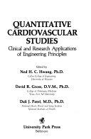 Quantitative Cardiovascular Studies Book