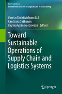 Toward Sustainable Operations of Supply Chain and Logistics Systems Pdf/ePub eBook