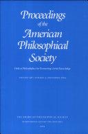 Proceedings, American Philosophical Society (vol. 148, no. 4, 2004) Pdf/ePub eBook