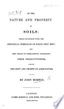 On the nature and property of Soils      and on the rent and profits of agriculture Book