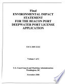Beacon Port Deepwater Port License Application