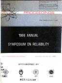 1966 Annual Symposium On Reliability