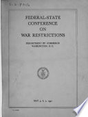 Federal State Conference on War Restrictions
