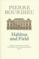 Habitus and Field