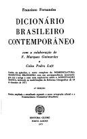 Dicionário brasileiro contemporâneo. Com a colaboração de F. Marques Guimarães e Celso Pedro Luft