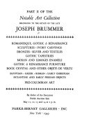 The Notable Art Collection Belonging to the Estate of the Late Joseph Brummer
