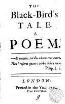 The black-bird's tale, a poem [By E. Stacy? 4 copies, the 4th having the title-leaf mutilated]. ebook