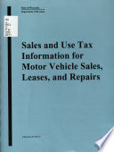 Sales and Use Tax Information