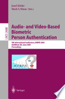 Audio-and Video-Based Biometric Person Authentication