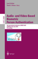 Audio and Video Based Biometric Person Authentication