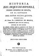 Historia del Duque de Riperda, etc. Segunda edicion