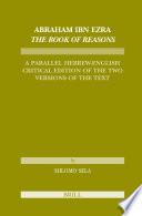 Abraham Ibn Ezra The Book Of Reasons