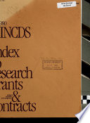 Nincds Index To Research Grants Contracts