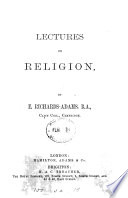 Lectures on Religion Book