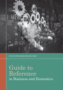 Guide to Reference in Business and Economics [Pdf/ePub] eBook
