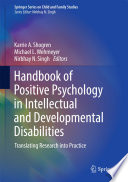 Handbook of Positive Psychology in Intellectual and Developmental Disabilities