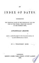 An Index of Dates
