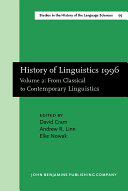 Pdf History of Linguistics, 1996: From classical to contemporary linguistics