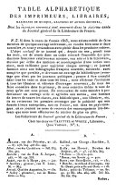 Journal général de la littérature de France, ou Répertoire méthodique des livres nouveaux, cartes géographiques, estampes et oeuvres de musique qui paraissent successivement en France