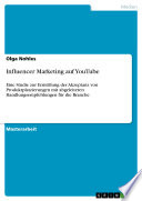 Influencer Marketing auf YouTube