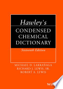 Hawley s Condensed Chemical Dictionary Book