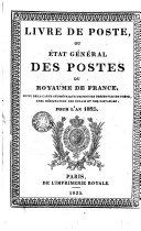 Livre de poste ou Etat général des postes du royaume de France